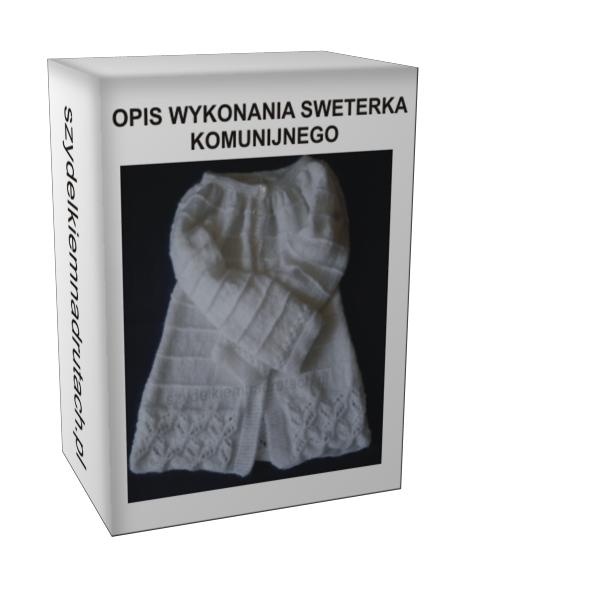 Sweterek komunijny opis wykonania