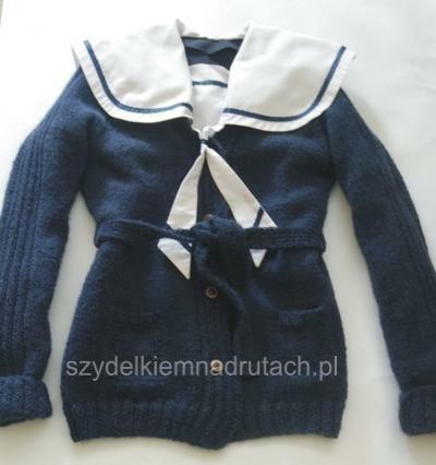 swetry na drutach szkolny przód