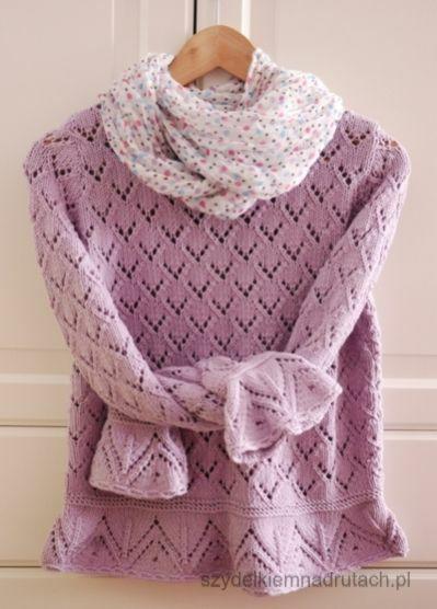 Swetry na druty i wiosenny ażurek